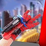 Guantes de Lanzador, Guante de Lanzador de Spider-Man Guantes de Plástico para Cosplay para Niños, Juego de Juguetes Educativos Divertidos para Niños