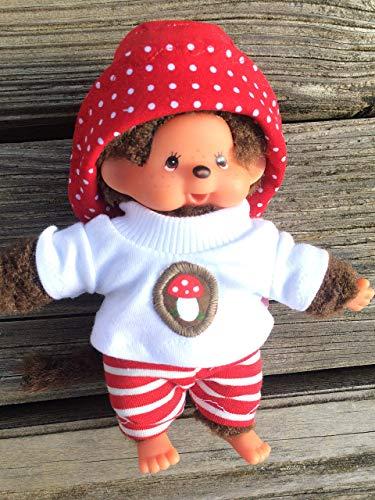 Puppenkleidung handmade passend für Bebichichi mini MONCHICHI Gr. 15 - 16 cm Shirt + Hose + Hut