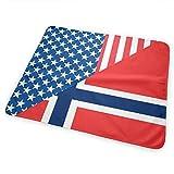 Cambiador de pañales, impermeable, suave, grande, de la bandera de Estados Unidos y Noruega, para cambiar el colchón de pañales para niños y niñas recién nacidos (25,5 x 31,5 €)