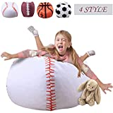 Storage Beanbag Cover Bean Bag Chairs for Kids 38 Inch Stuffed Animal Extra Large Blanket Plush Organizer for Child Stuffed Seat Storage Sack Soft Smooth Polyester Kid'S Room,Baseball