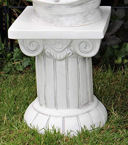OM Deko Garten Figur Säule Sockel ionischer Stil Klassische Skulptur Höhe 30 cm