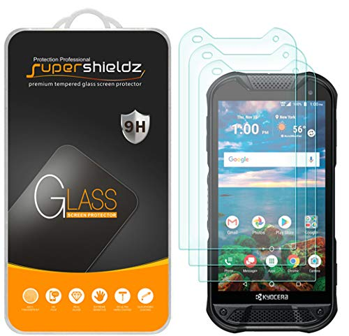 (3 Pack) Supershieldz for Kyocera (DuraForce Pro 2) Tempered Glass Screen Protector, Anti Scratch, Bubble Free