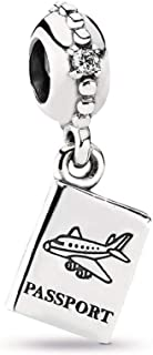 Adventure Awaits Dangle Charm, Sterling Silver, Cubic Zirconia, One Size