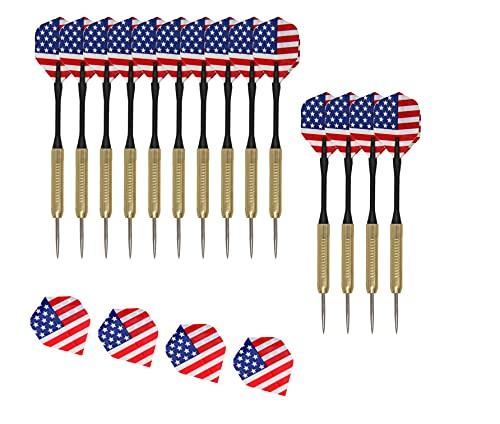 General Packaging [15 pz] Set di freccette professionali in tungsteno, con punta in acciaio e custodia per il trasporto UK