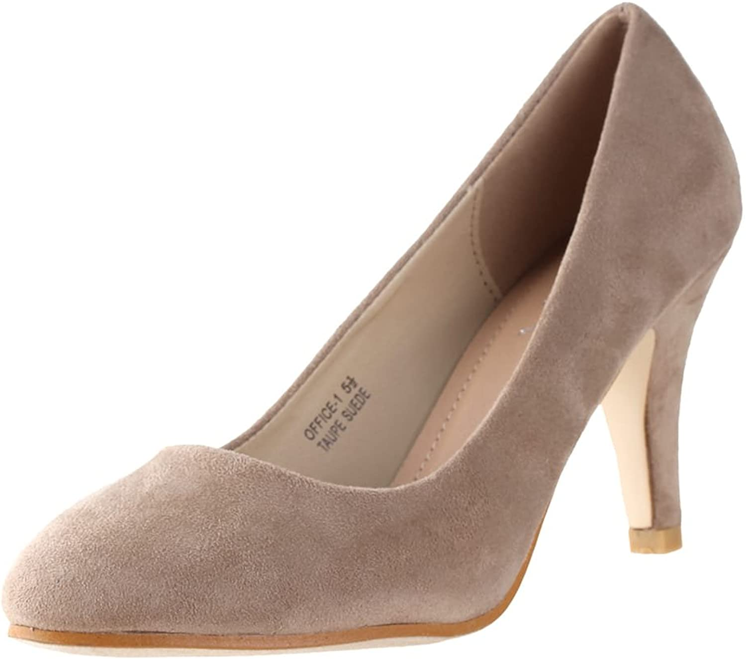 Anna shoes Womens Office-1 Suede Pumps Taupe