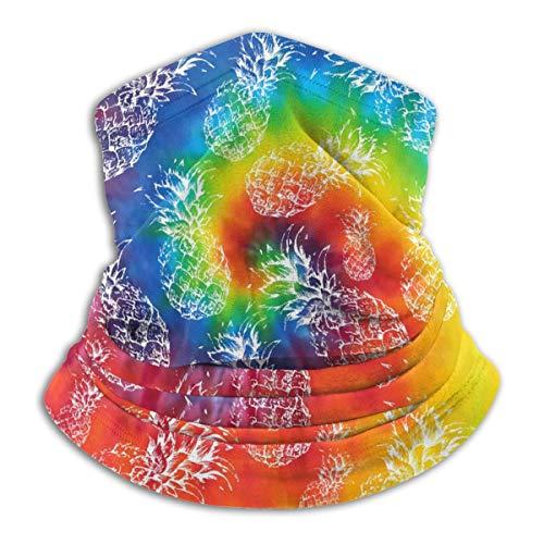 Pineapple Tropical Tye Dye Face Mask for Men Women, Neck Gaiter Bandana