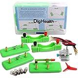 DigHealth Elettrico Circuito Kit, Giocattolo Educativo Montessori, Kit Esperimenti Fisica, STEM Sperimentale Progetti Scientifici per Bambini L'apprendimento Elettricità di Base