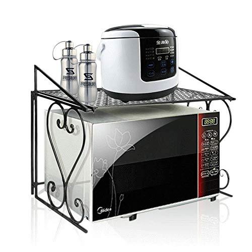 Metall Mikrowelle Regal, 2 Schicht Küchenregal Arbeitsplatte, Mikrowellenhalterung Küchen Organizer, Ofen Regal für Küche