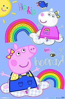 Trends International Peppa Pig - Hooray Wall Poster 22.375  x 34  Unframed Version