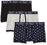 Original Penguin Men's Cotton Stretch Trunks, 3 Pk, Black/Light/SKYCPTE - 3...