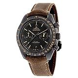 Reloj Omega Speedmaster Moonwatch Co-Axial, cronógrafo, con esfera negra, para hombre,...