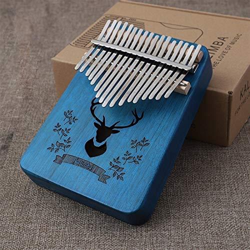 Kalimba, Daumenklavier 17 Keys Kalimba Daumenklavier Mahagoni Massivholz Musikinstrument African Finger Pianos Maschine Instrument (Color : B)