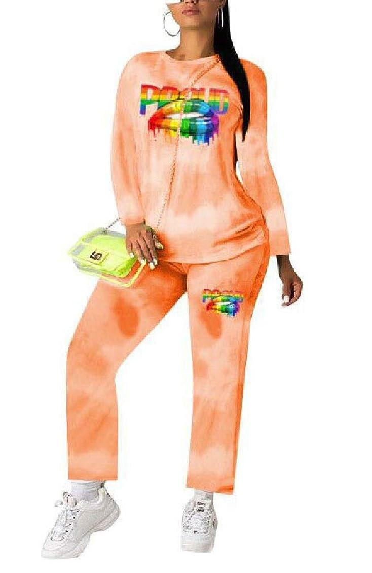 神経衰弱甘美な便利VITryst 女性プルオーバートップとカジュアルパンツ衣装ファッション2ピースセット