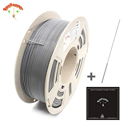 Reprapper Easy-to-Print Gray PETG Filament for 3D Printer 1.75mm (± 0.03mm) 2.2lb (1kg)