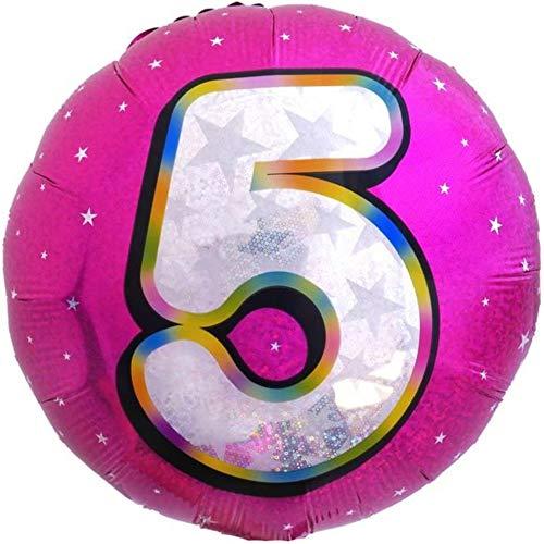 DIWULI, aantal ballon, nummer 5, roze ballon, aantal ballon, folieballon nummer geen jaar, folieballon 5e verjaardag, meisjes kinderverjaardag, bruiloft, feest, decoratie, geschenkdecoratie