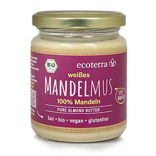 ecoterra Bio Mandelmus weiß | 100% Mandeln | vegan | glutenfrei | Fair | 250 g