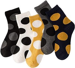 5 Pares de Calcetines de algodón para Mujer, diseño de Lunares