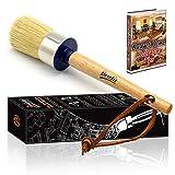 Best Brush For Chalk Paints - Brietis Premium Chalk Brush, Natural Boar bristles, Smooth Review