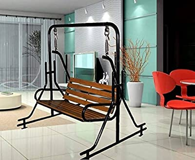 indoor double swing chair with stand