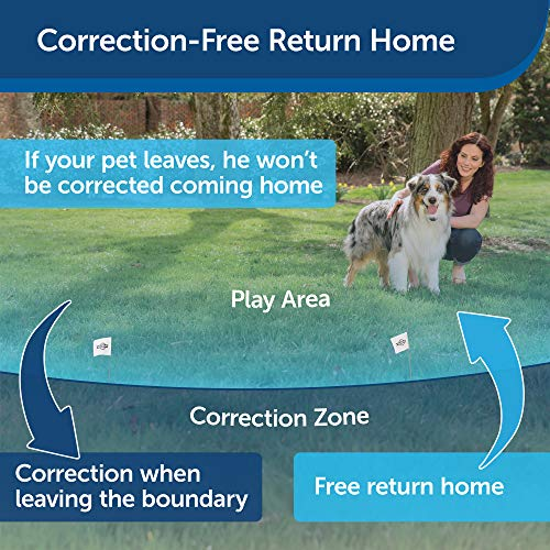 PetSafe Stay & Play Wireless Fence with Replaceable Battery Collar – Covers up to 3/4 Acre – For...