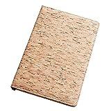 Cuaderno ecológico Boshiho A5, tapa dura, de corcho A5, para escribir diario, regalo vegano (color 1)