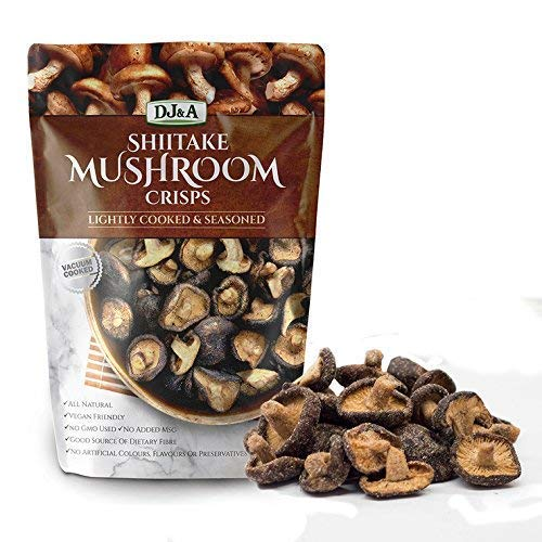 Shiitake Mushroom Crisps - Lightly Cooked and Seasoned 10.28 Ounce (10.58 Ounce)