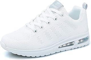 MINBEI Baskets Femmes Chaussures de Running Respirantes pour Femme Athlétiques Légères Chaussures de Sport pour Femme Lace...