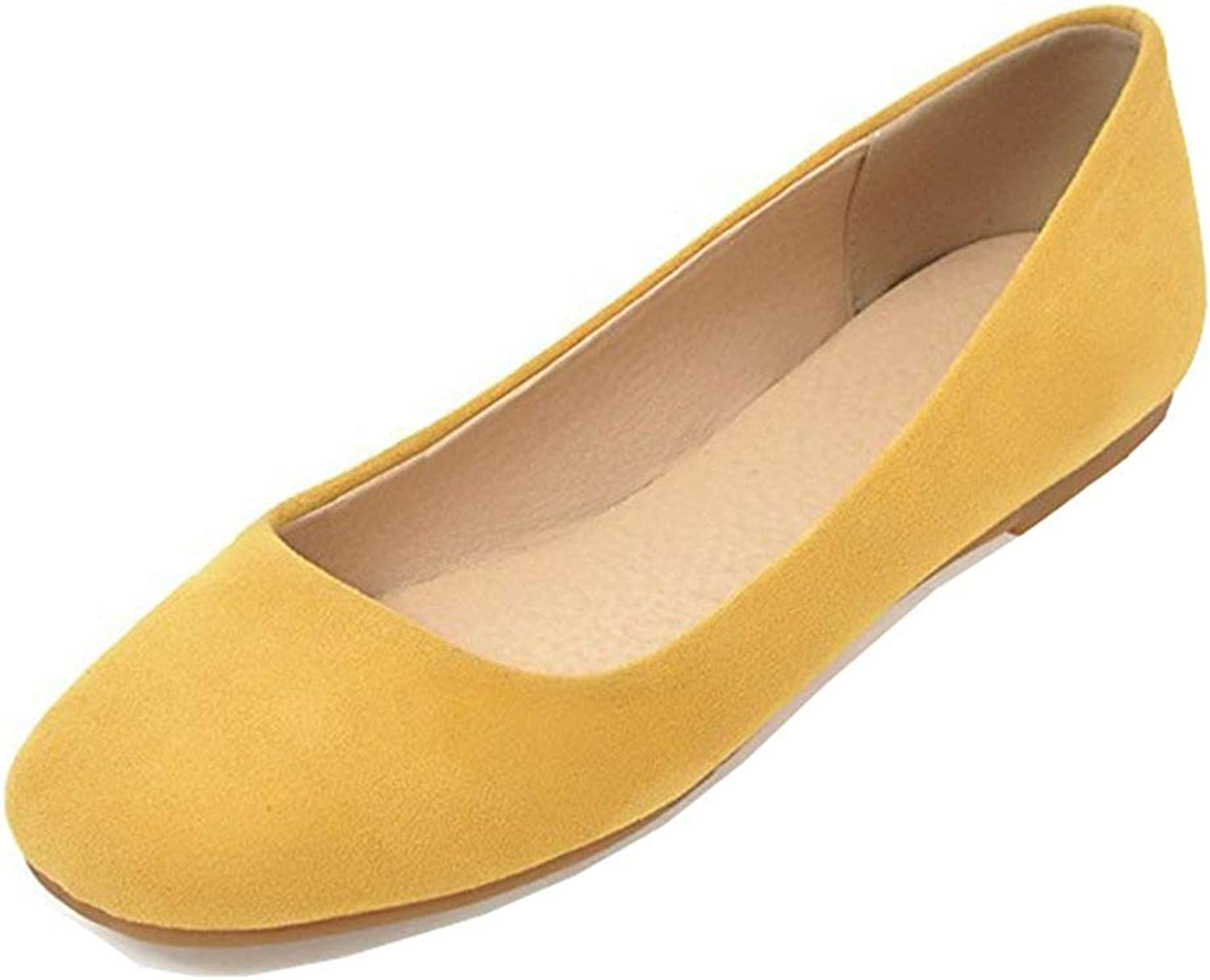 Unm Women's Simple Comfy Low Cut Square Toe Driving Cars Slip On Ballet Flats shoes