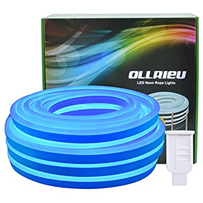 Ollrieu LED neon Signs for 50ft/15m 110V 2835 Lights Waterproof Power Plug Flexibility with Garden Kitchen Wedding Party Decoration