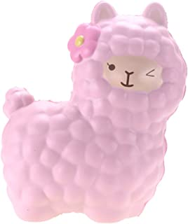 VLAMPO 6.5inch Jumbo Llama Squishies Slow Rising Gaint Alpaca Squishy Toys Soft Slow Animal Toys Cream Scented Cute Stress Relief Squeeze Toys Kawaii Squishy Doll (Pink )