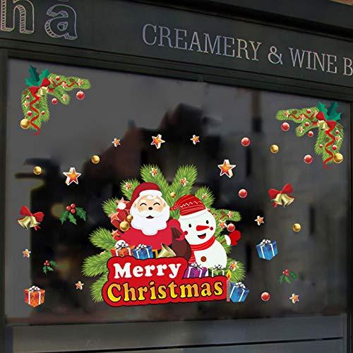 Christmas Santa Animal Window Stickers, Winter Decorations Party Supplies