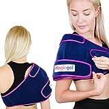 Magic Gel Cool Pads - Eisbeutel für Verletzungen der Rotatorenmanschette, Schleimbeutelentzündung und Schwellung. Kalttherapie-Kompressionswickel für die linke oder rechte Schulter