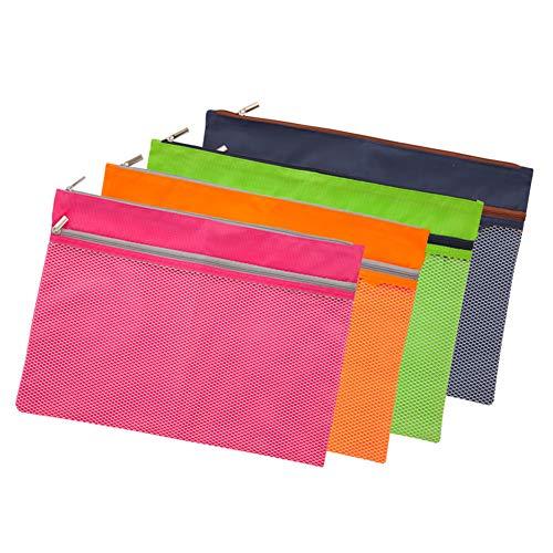 JERYYBO Bunte einlagige Dokumententasche Farbreißverschlusstasche