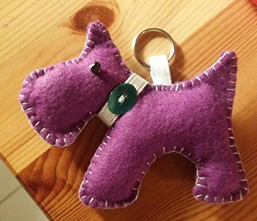 Portachiavi cane viola