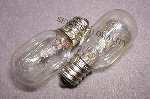 Affordable (2 Pieces) Replacement Light Bulb for Singer 14T957DC XL2021 1507 Janome NewHome 105 106 108 352 353 372 +