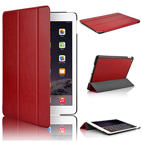 Swees Apple iPad Air 2Hülle–Ultra Slim Cover Hülle für Apple iPad Air 2[6. Generation 2014Release] mit magnetischer Wake und Sleep Funktion–Rot