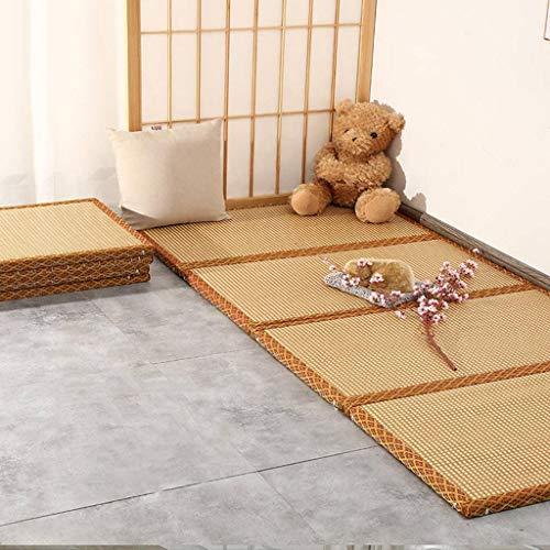 HUANXA Natural Japonés Plegable Tatami,Base para Futón De Tatami Tradicional Grueso Colchón Japonés De La Cama La Fundación-200x90x3cm(79x35x1inch)