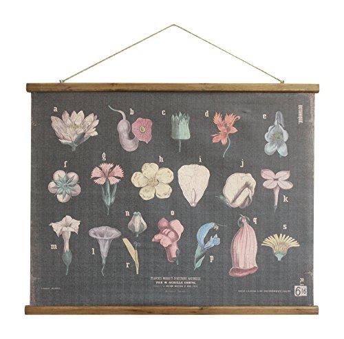 Botanicals Linen & Wood Scroll Wall Poster