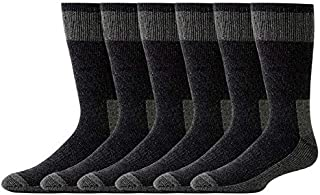 Freshox Men's6 Pair WOOL Heavy Boot Socks Hunting Camping Trekking Hiking
