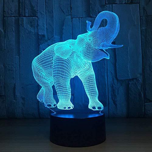 Jhqyam - Juguete de elefante con mando a distancia, 16 colores RGB cambiantes, lámpara de mesita de noche para decoración del hogar, regalo de Navidad para bebés, niños, niños pequeños