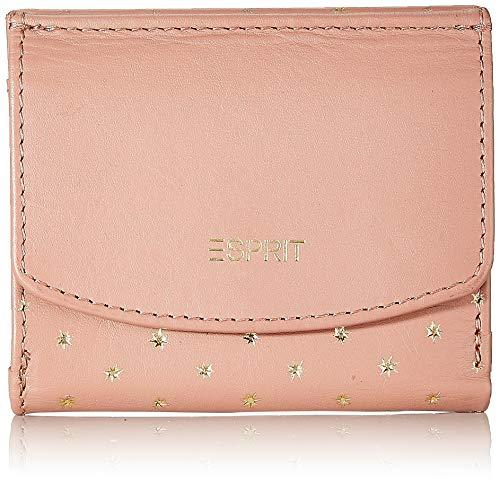 Esprit Accessoires dames Foc Star Sml Wa portemonnee, roze (Dark Old Pink), 2x9x10 cm