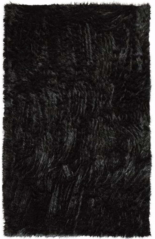 Home Decorators Collection Faux Sheepskin Area Rug, 3'X5', Black