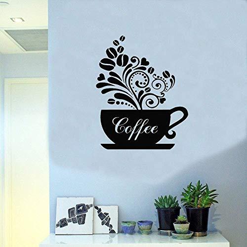 Teekanne Küche Café Wohnkultur Wandaufkleber Kunst Wandbilder Abnehmbare Selbstklebende Wandtattoos Fenster Poster Tür Dekoration Wandaufkleber57Cmx43Cm