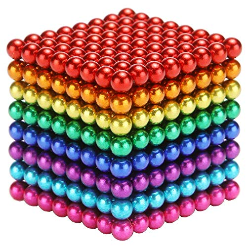 5MM Magnets Sculpture Building Blocks Toys for Intelligence Learning Development Toy, Office Desk Toy & Stress Relief for Adults (512Pcs 8Colors)