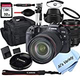 Canon EOS RP Mirrorless Digital Camera with RF 24-105mm f/4L is USM Lens+ 32GB Card, Tripod, Case, and More (18pc Bundle)
