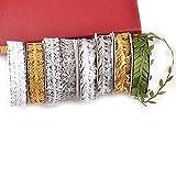 Durable 3AYARD / LOT Cintas de copo de nieve para artesanías Adornos de cortes...