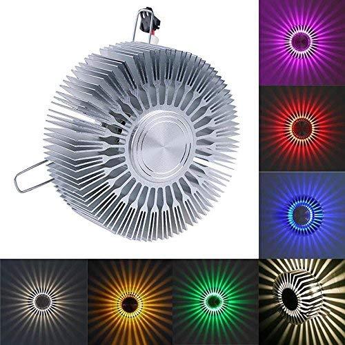 Tubayia Lámpara de pared LED RGB con cambio de color para salón o dormitorio