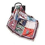 MOMIN Bufanda Mujer Bufandas Ligeras 2 unids Plaza de Las Mujeres como Silk Satin Square Head Curno Bufandas Lightweight CucheRchief Wraps Regalos Elegantes (Color : Multi-Colored, Size : 90cm)