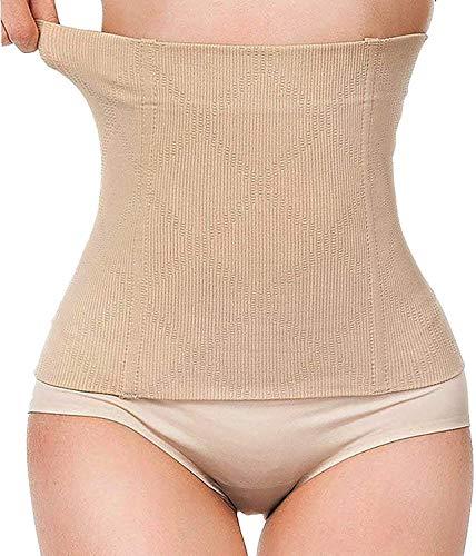 Bafully Postnatal Bauchgurt & Taillenmieder, 2 in 1 Design multifunktionell Bauchweg Taillenformer elastisch Unterstützung Figurformende Bauchband Shapewear Gurt nach Geburt, Hautfarbe, XL