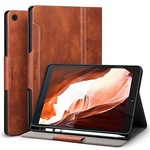 Antbox Hülle für iPad 10.2 (8. Generation/7. Generation) mit stifthalter Auto Schlaf/Wach Funktion PU Ledertasche Schutzhülle Smart Cover für iPad 10,2
